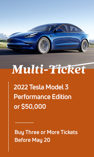 Multi-ticket Drawing: Porsche 718 Cayman or $50,000 cash; must buy 3 or more tickets